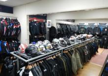 Motorcycle clothing store