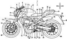 Honda CB125R electric motorcycle patents